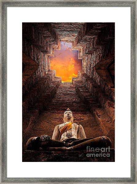 Asian Religious Architecture. Ancient Framed Print