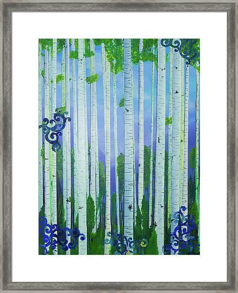 Aspens In Summer Framed Print