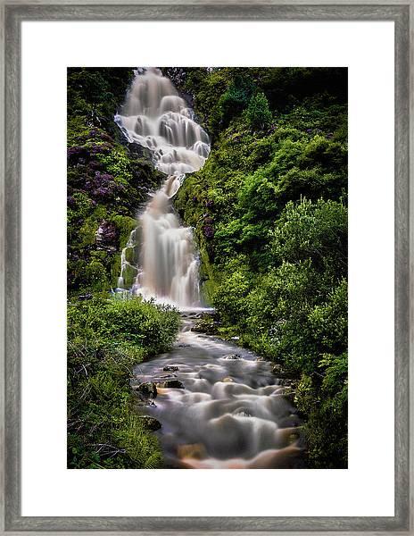 Assaranca Waterfall Framed Print