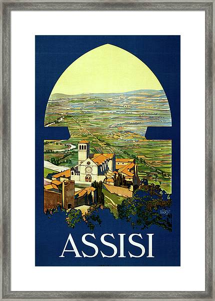 Assisi Travel Poster Framed Print