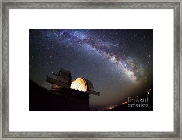 Astronomical Observatory Under The Stars Framed Print
