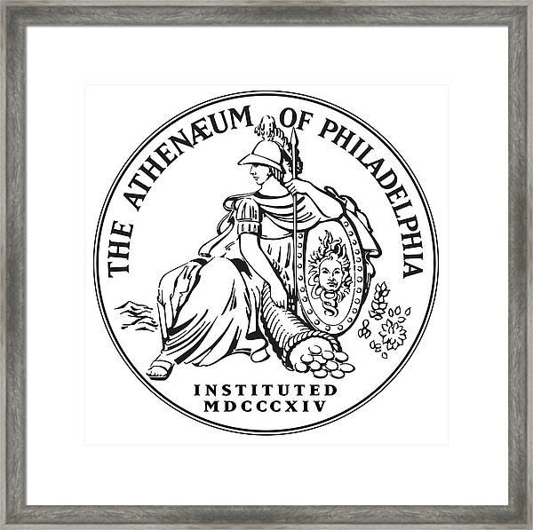 Athenaeum Of Philadelphia Logo Framed Print