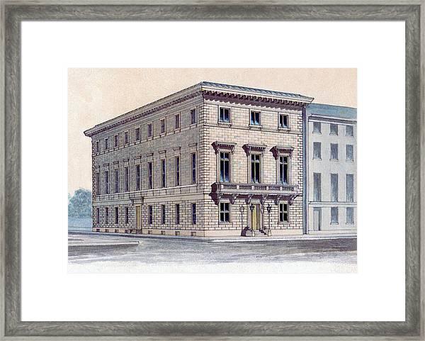 Athenaeum Perspective Framed Print