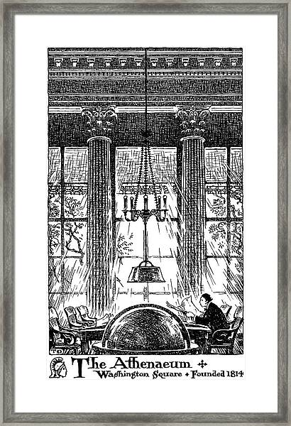 Athenaeum Reading Room Framed Print