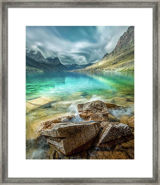 Atmospheric / St. Mary Lake, Glacier National Park  Framed Print