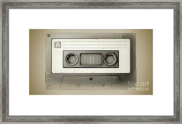 Audio Cassette Tape Framed Print
