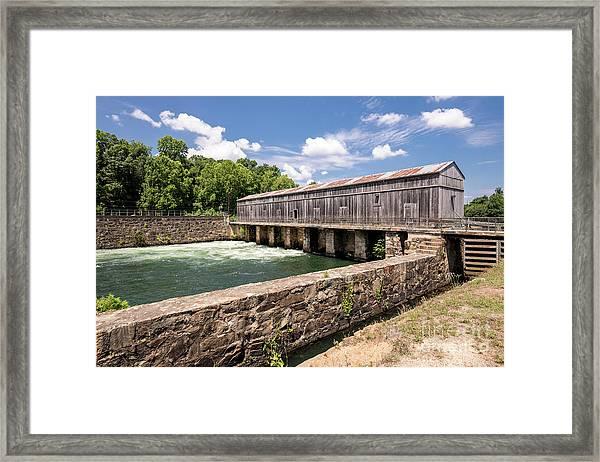 Augusta Canal Headgates - Augusta Ga Framed Print