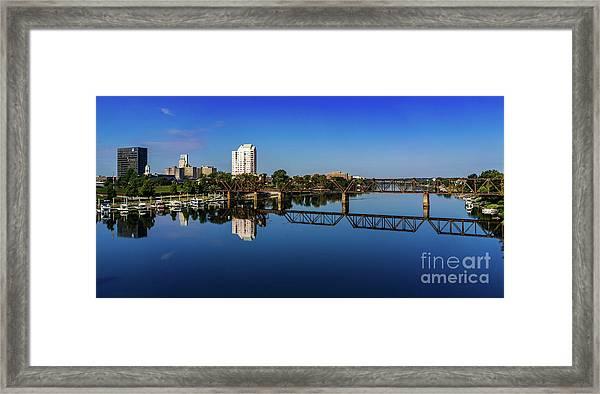 Augusta Ga Savannah River Panorama Framed Print
