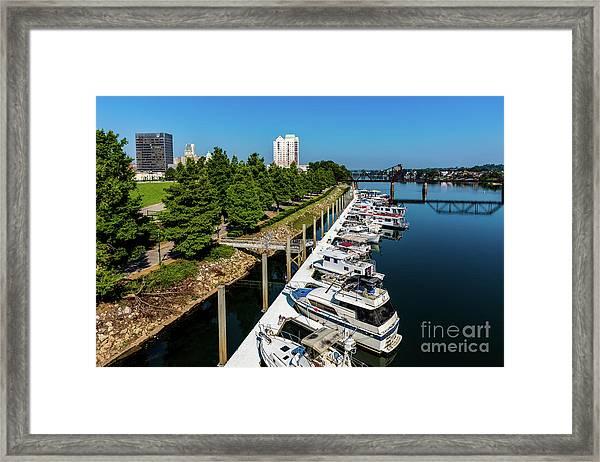 Augusta Ga - Savannah River Framed Print