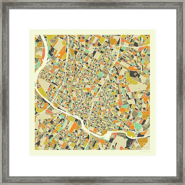 Austin Map 1 Framed Print