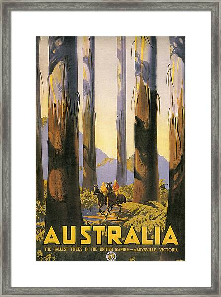 Australia Travel Poster Framed Print