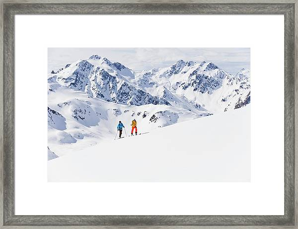 Austria, Stuben, Young Couple Doing Framed Print