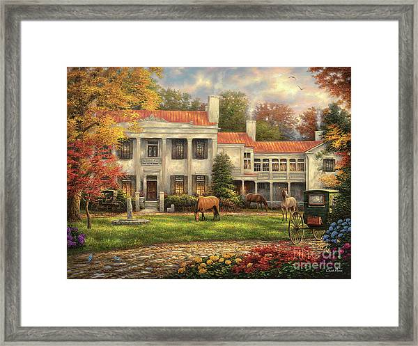 Autumn Afternoon At Belle Meade Framed Print