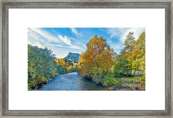 Autumn Ason River Framed Print