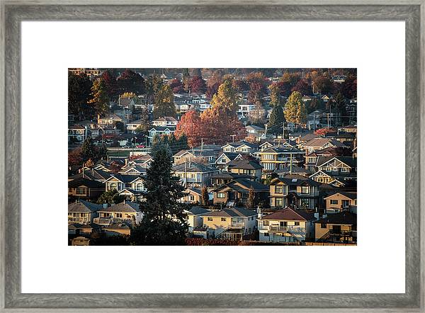 Framed Print featuring the photograph Autumn At Home by Juan Contreras