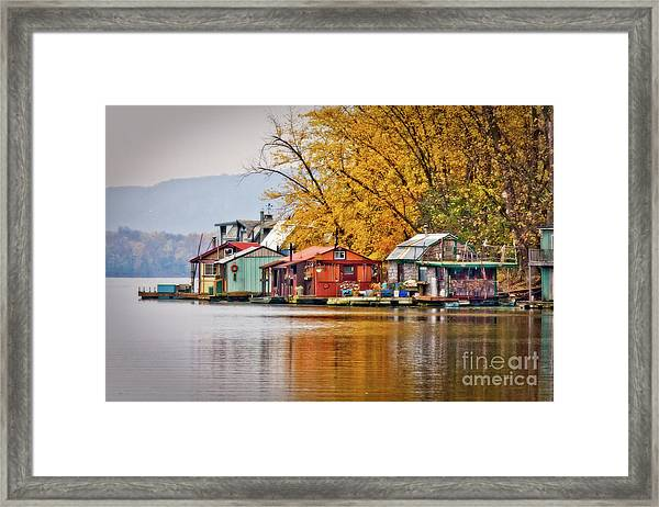 Framed Print featuring the photograph Autumn At Latsch Island by Kari Yearous