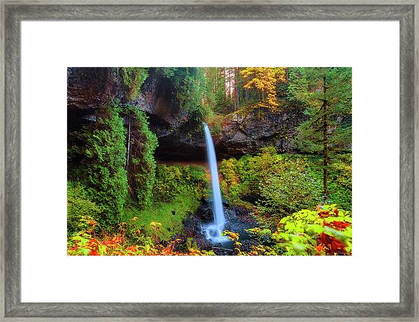 Framed Print featuring the photograph Autumn At North Falls by Dee Browning