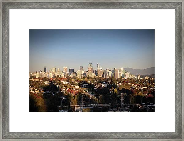 Autumn At The City Framed Print