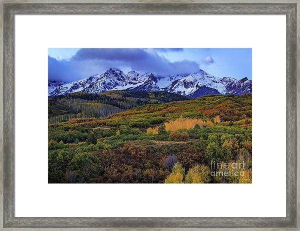 Autumn At The Dallas Divide Framed Print