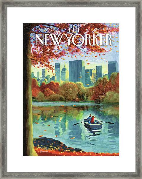 Autumn Central Park Framed Print