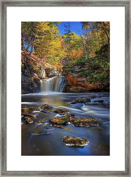 Autumn Day At Doane's Falls Framed Print
