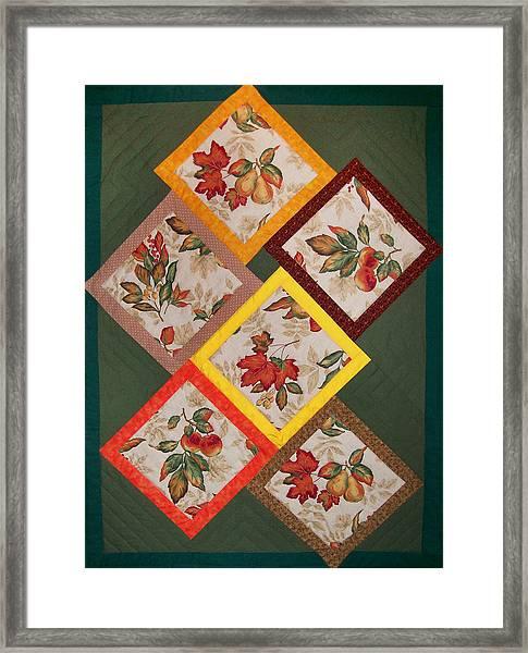 Autumn Fruit And Leaves Framed Print