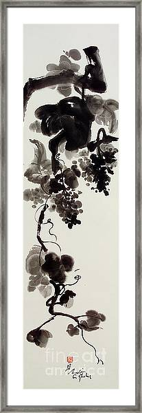 Autumn Grape Vine Painting Framed Print