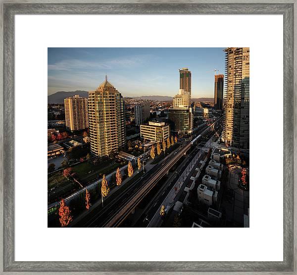 Autumn In Burnaby Framed Print