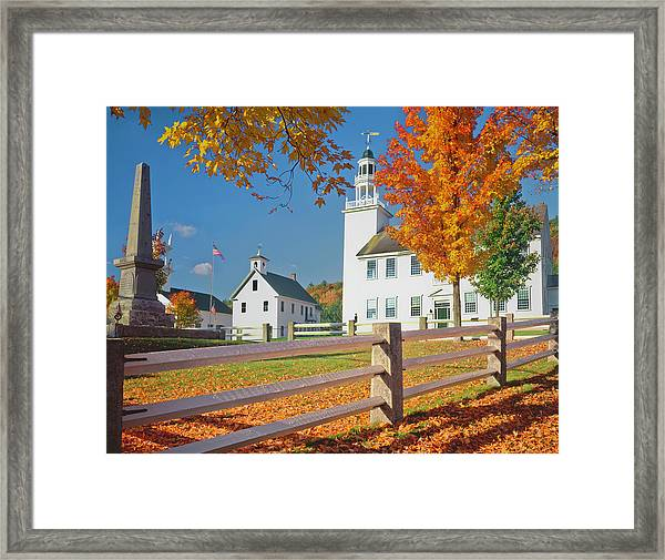 Autumn In New Hampshire Framed Print by Ron thomas