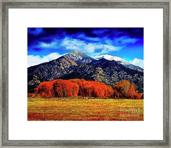 Autumn In Taos New Mexico Framed Print