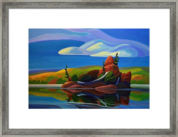 Autumn Island Framed Print