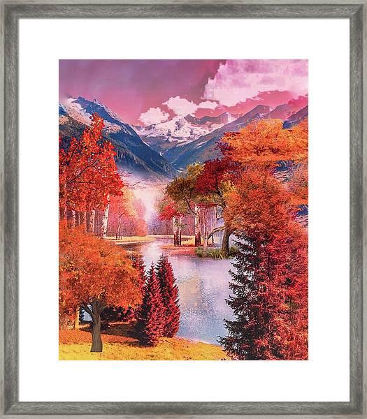 Autumn Landscape 1 Framed Print