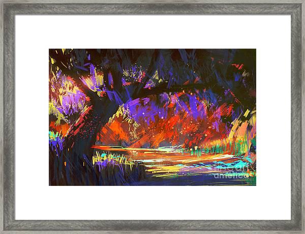 Autumn Landscape Digital Framed Print