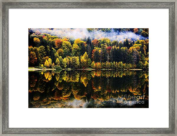 Autumn Landscape In The Mountains - St Framed Print