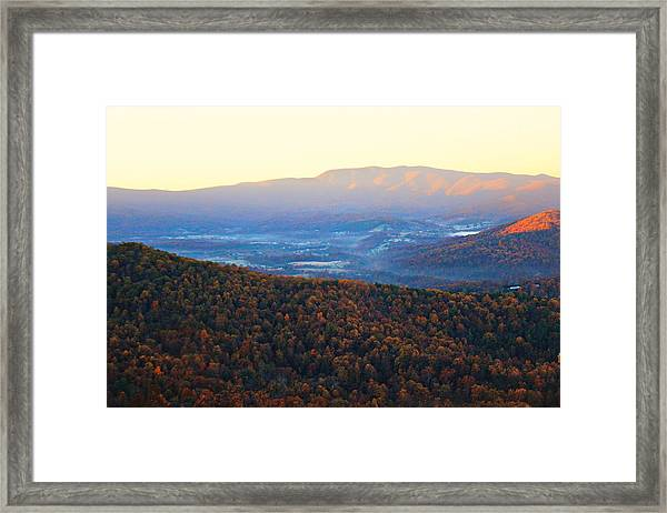 Framed Print featuring the photograph Autumn Mountains  by Candice Trimble
