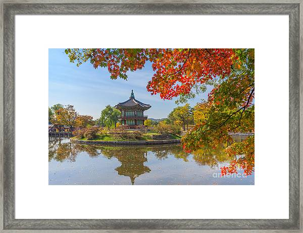 Autumn Of Gyeongbokgung Palace In Seoul Framed Print
