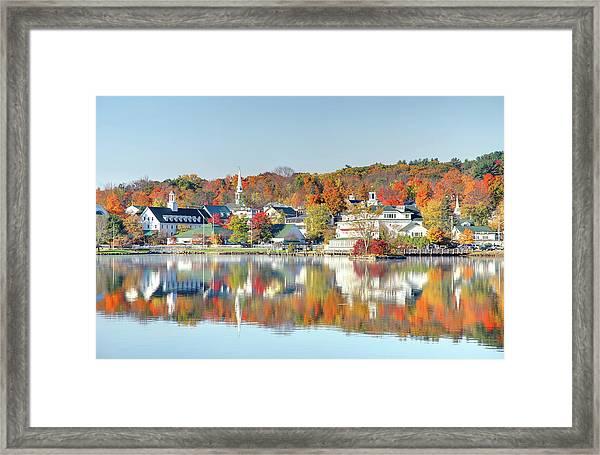 Autumn On Lake Winnipesaukee Framed Print by Denistangneyjr