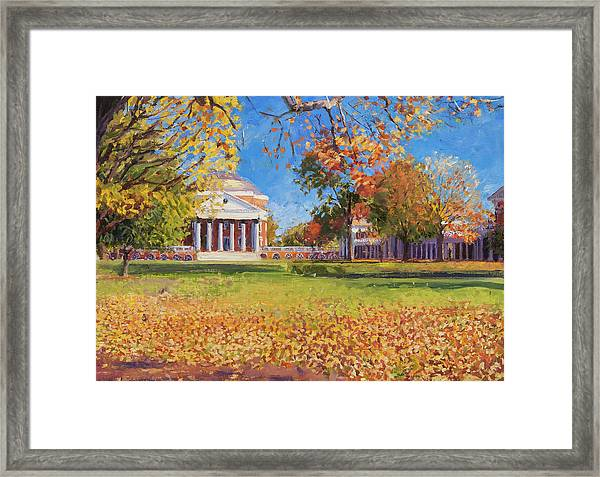 Autumn On The Lawn Framed Print
