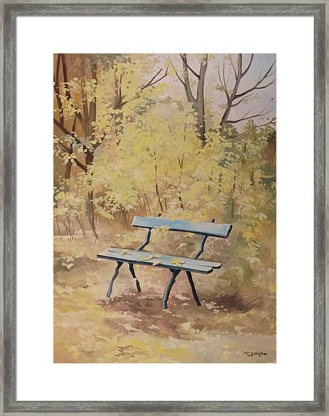 Framed Print featuring the painting Autumn by Said Marie