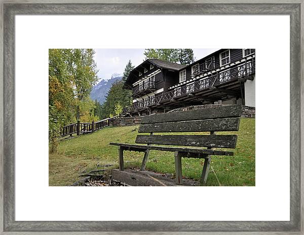 Autumn Silence At Lake Mcdonald Lodge In Glacier National Park Framed Print