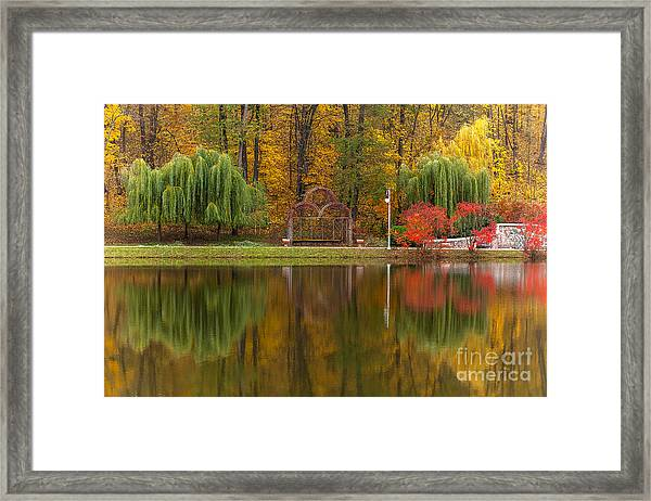 Autumn Tints Of Nature,park In Autumn Framed Print by Photosite