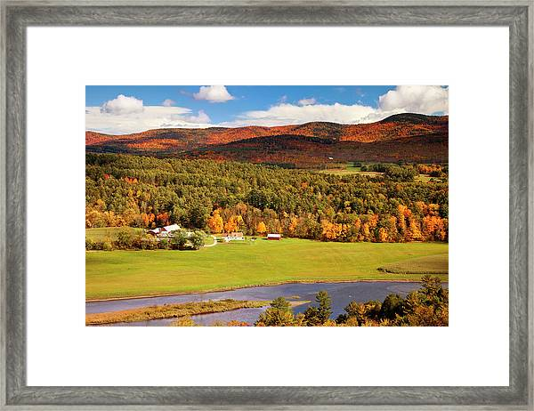 Autumn View Overlooking Connecticut Framed Print