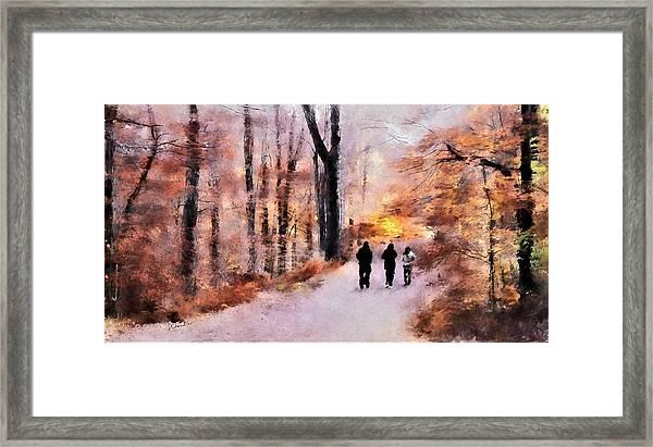 Autumn Walkers Framed Print