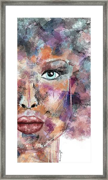 Autumn - Woman Abstract Art Framed Print