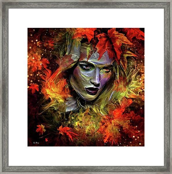 Autumn's Fury Framed Print