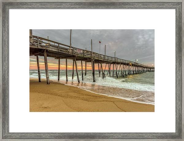 Avalon Pier - Kill Devil Hills Nc Framed Print