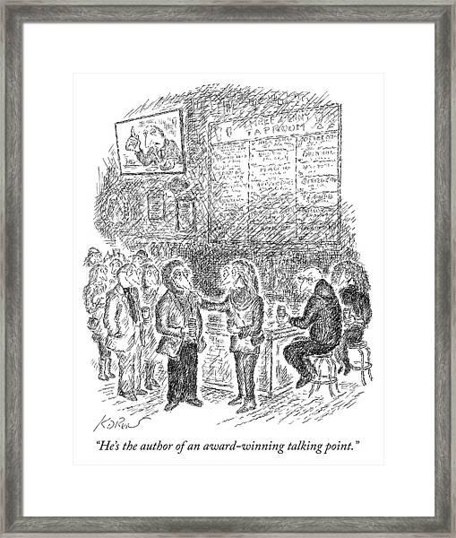 Award Winning Talking Point Author Framed Print