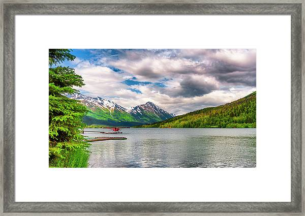 Framed Print featuring the photograph Awe The Draw Of Alaska by Dee Browning