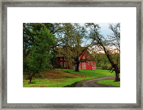Framed Print featuring the photograph Awe Those Country Roads by Dee Browning