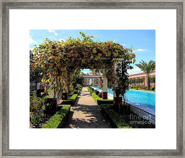 Awesome J Paul Getty Villa Pacific Palisades California  Framed Print